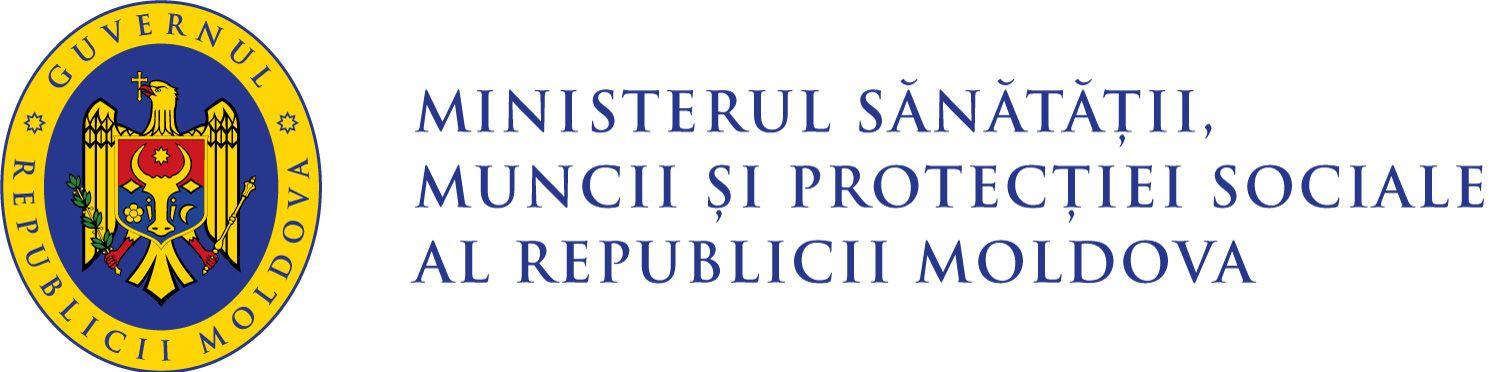 Logo Ministerul Sănătății, Muncii și Protecției Sociale